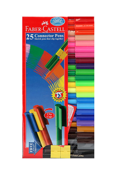 Faber Castell Connector Pens - Pack of 25