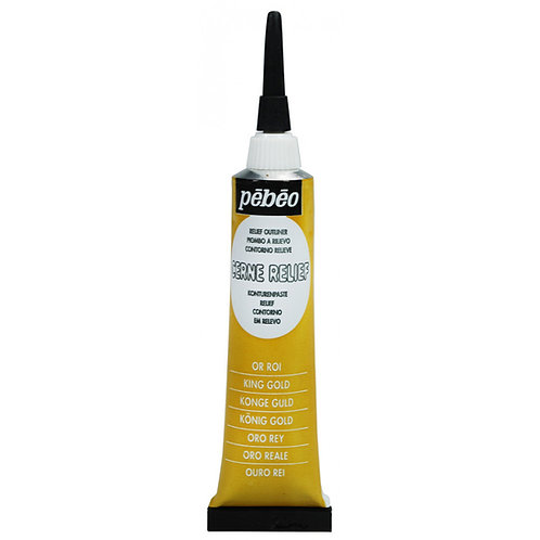 Pebeo Vitrail Cerne Relief Outliner - 20ml Tube - King Gold