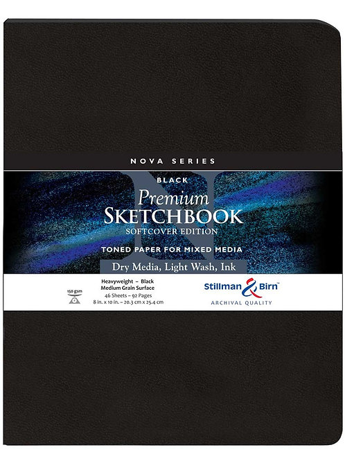 Stillman & Birn Nova Softcover Sketchbook  (8 x10 inches) - Black