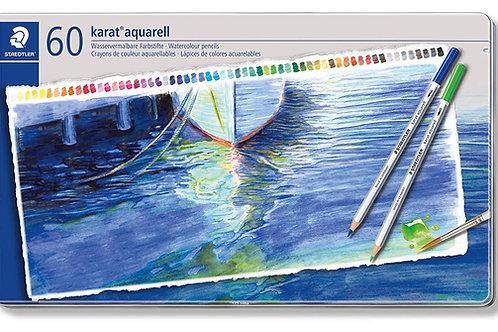 Staedtler Karat Aquarell Premium Watercolour Pencils - Set of 60 Colors