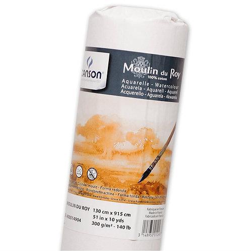 Canson Moulin Du Roy 300Gsm Watercolour Paper, Rough Texture, Roll 1.30X9.15M