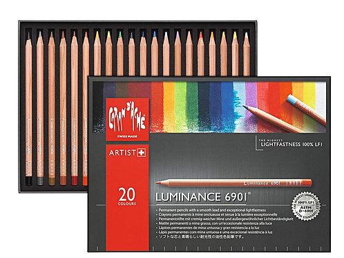 Caran Dache Artist Luminance Colour Pencil - Set of 20