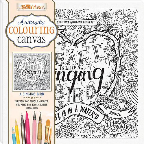Art Maker Artists' Colouring Canvas: A Singing Bird