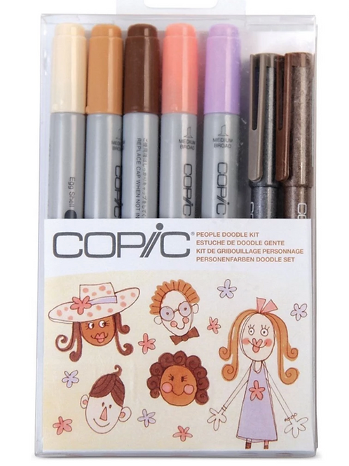 Copic Marker People Doodle Kit - 7 Markers