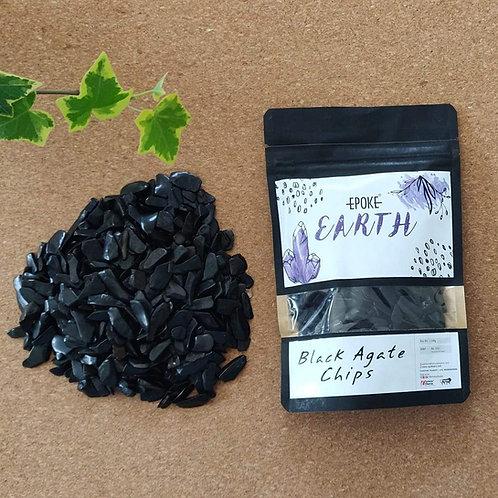 Epoke Earth - Black Agate Crystals 250g