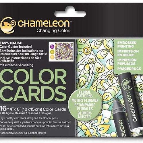 Chamleon Colour Cards Raised Print ‐ Floral Patterns