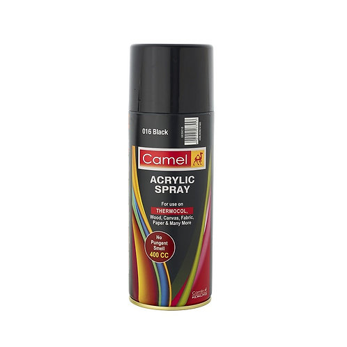 Camel Acrylic Spray Paint 400ml - Black