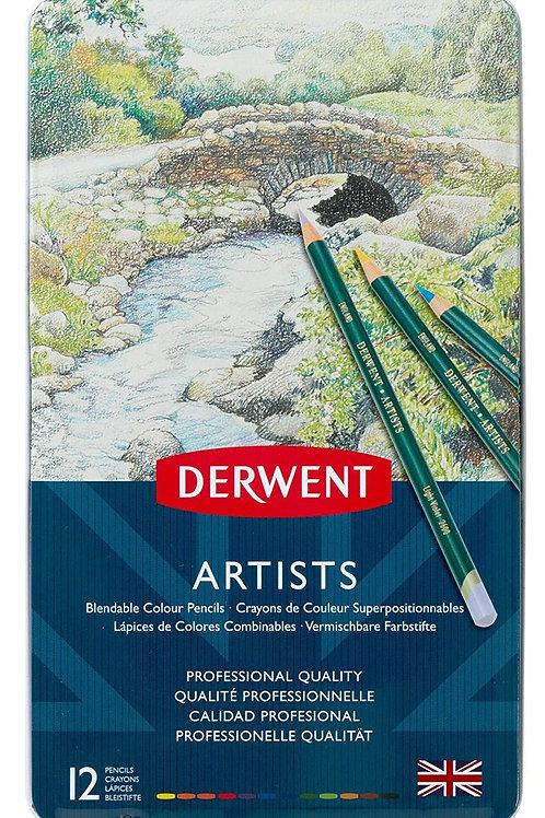 Derwent Artists Tin - Set of 12