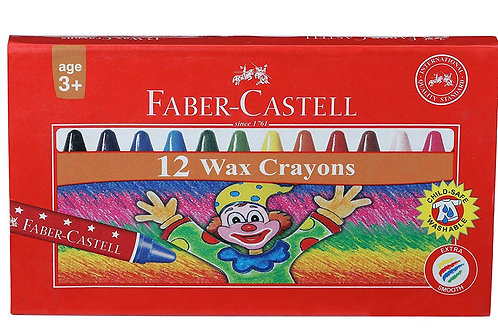 Faber Castell Wax Crayon Set - Pack of 12
