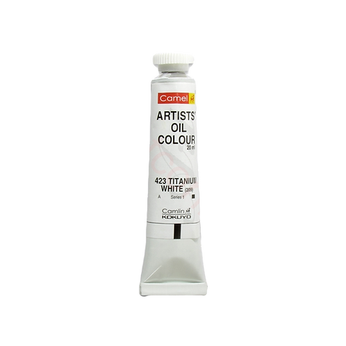 Camlin Kokuyo Artists Oil Colours 20ml - Titanium White