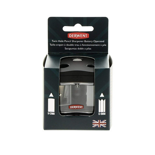 Derwent Pencil Sharpener Battery Operated Twin Hole Sharpener