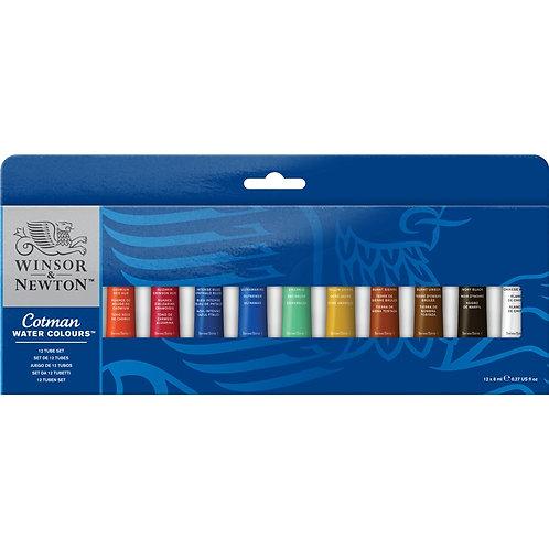 Winsor & Newton Cotman Water Colours 12 Tube Set