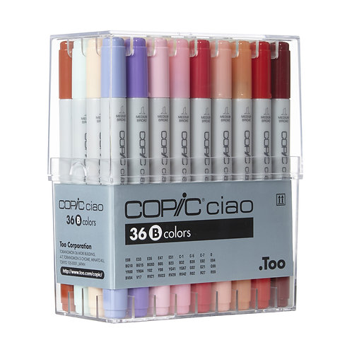 Copic Ciao Marker Set B - Set of 36 Colours