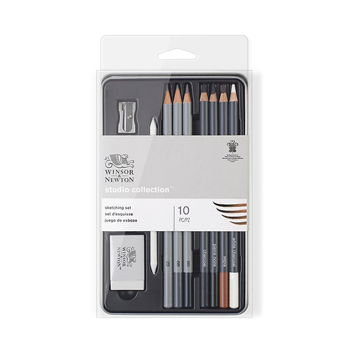 Winsor & Newton Studio Collection Sketching Pencil - Set of 10