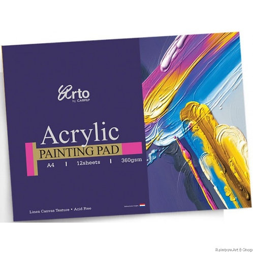 Campap Arto Acrylic Painting Pad A4 (Linen Canvas Texture) 360gsm
