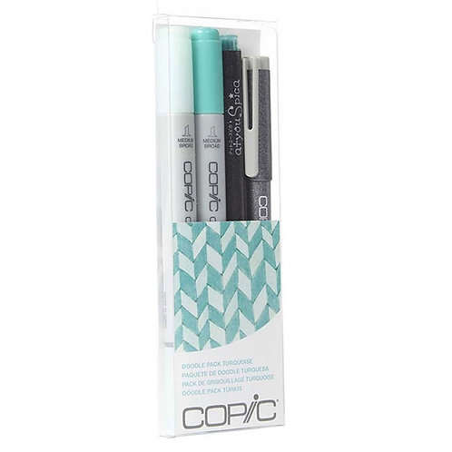 Copic Ciao Doodle Set of 4 - Turquoise
