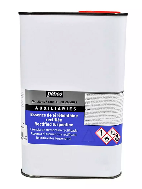 Pebeo Extra Fine Auxiliaries - Rectified Turpentine - 1000ml bottle