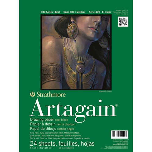 Strathmore 400 Series Artagain 6''x9'' 160 GSM Paper - Pad of 24 Sheets