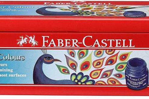 FaberCastell Poster Colours Tin Box - Set of 12