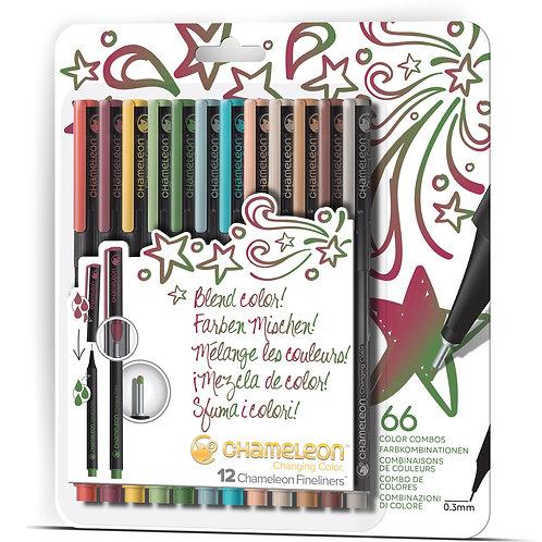 Chameleon Fineliner Pens Colours set of 12 - Designer