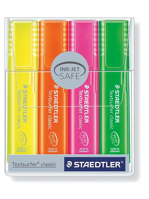 Staedtler Textsurfer Classic Highlighter Pen Rainbow Colors - Pack of 4