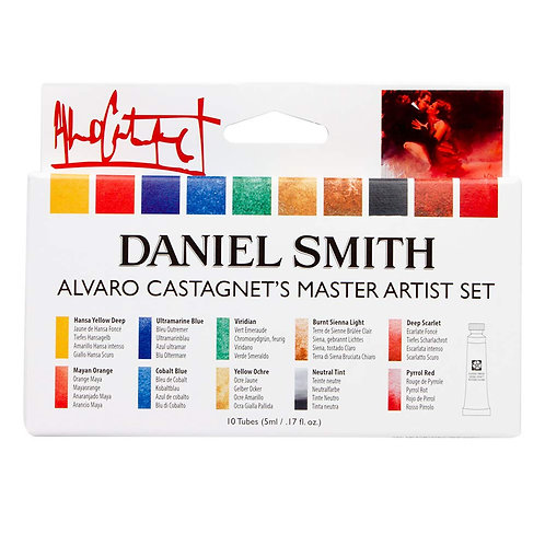 Daniel Smith Alvaro Castagnet Master Artist Watercolour 5ml - Set of 10
