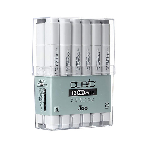 Copic Classic Colour Nuetral Grey - Set of 12