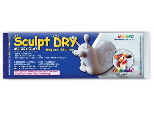 Mungyo Sculpt Dry Clay 500g - White