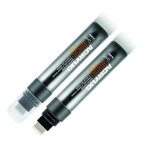 Montana Acrylic Markers 15mm Wide Tip - Black