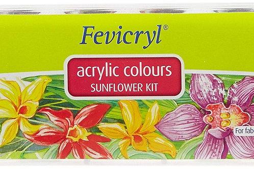 Fevicryl Acrylic Colours Sunflower Kit - 10 shades