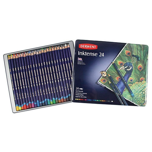 Derwent Inktense Colour Pencil - Tin of 24