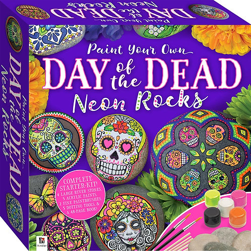 Paint Your Own Day of the Dead - Neon Rocks Small Kit