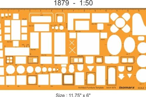 Isomars Architect Furniture Template 1879 (1:50)