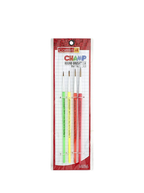 Camlin Champ Round Brush Set - Pack of 4