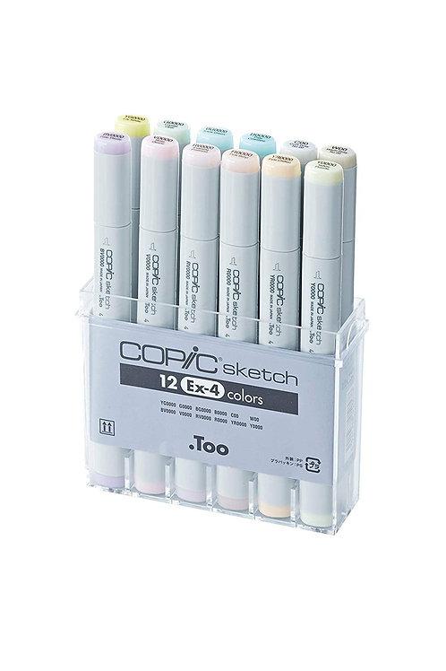 Copic Sketch Marker Set 12 Color Set - EX4