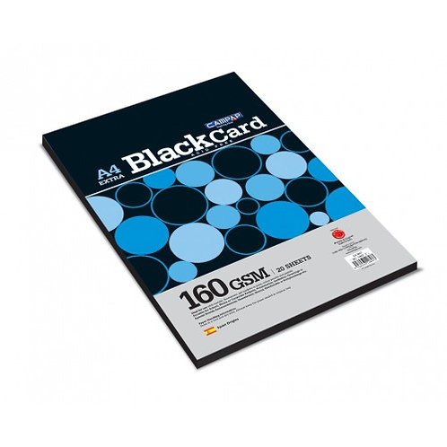 Extra Black Sheets - 20 sheets 160 gsm A4