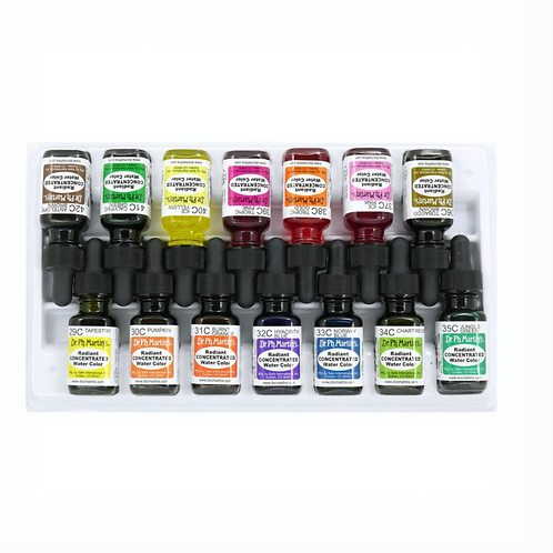Dr. Ph. Martin's Radiant Concentrated Watercolour Bottles - Set of 14 (Set C)