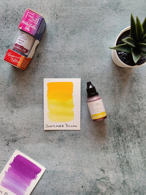 Beyond Inks Watercolor Ink 20ml - Sunflower Yellow