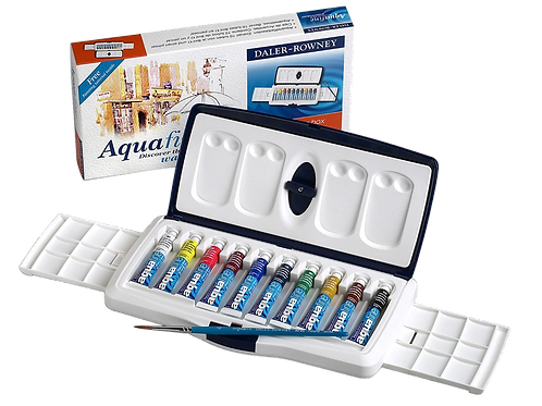 Daler Rowney Aquafine Watercolour Box - 10x8ml Tubes
