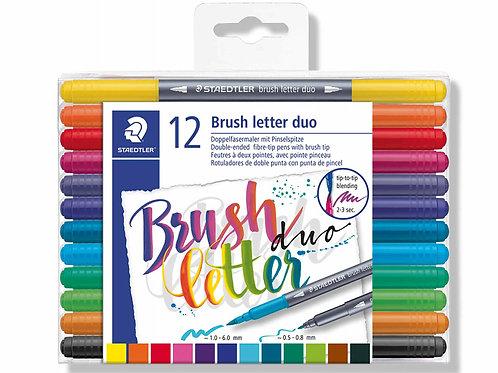 Staedtler Mars Brush Pens Graphic Duo - Set of 12