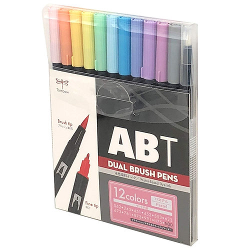 Tombow ABT Dual Brush Pen Pastel Palette - Set of 12