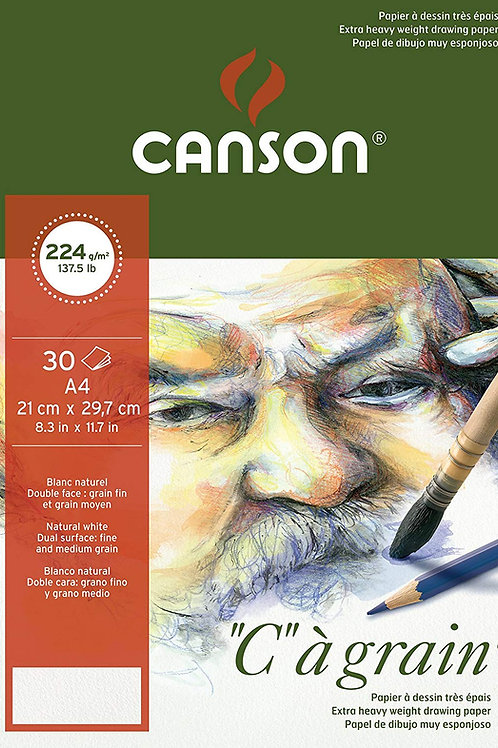"""Canson """"C"""" a Grain Pad 224GSM A4 - 30 Sheets"""