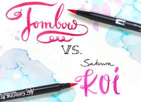 TOMBOW vs. Sakura KOI: Which brush pens are better?
