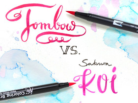 TOMBOW vs. Sakura KOI: Which brush pens are better?
