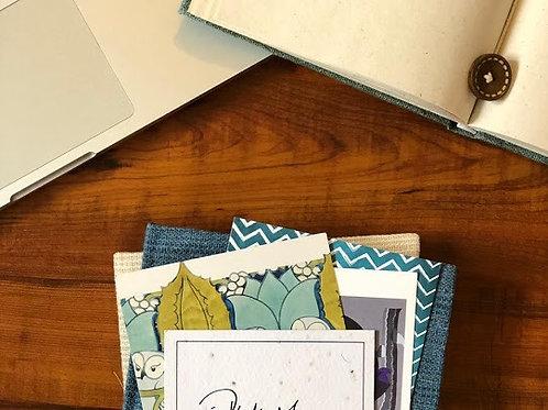 Ikksha Bio Degradable Notebook - Persian Blue