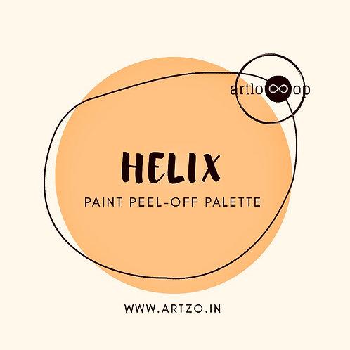 Helix Paint Peel-Off Palette by Artloop