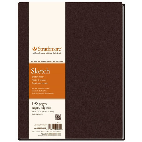 Strathmore 400 Series Sketch 8.5''x11'' 89 GSM Paper - Art Book of 96 Sheets