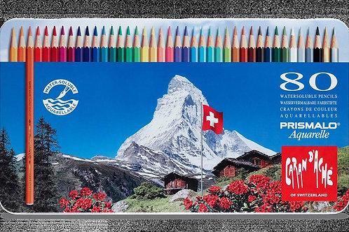 Caran Dache Prismalo Aquarelle Colour Pencil - Set of 80