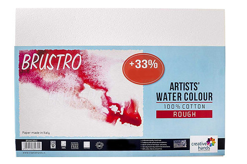 Brustro 100% Cotton Artists Watercolour Paper - Rough - 300gsm