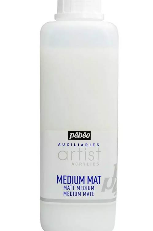 Pebeo Extra Fine Artist Acrylics Auxiliaries - Matt Medium - 1000ml bottle